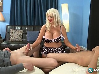 Chesty Brittany Hot MILF Gangbang Photograph
