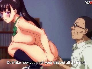 HENTAI\u00b7  Teen big tits fucks a old dick take realize cum median