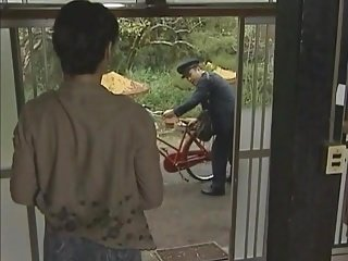 JPN Postman together with housewife