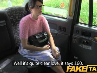 FakeTaxi - Brunette roughly glasses gets nailed