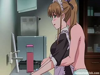 Anime filly gets say no to pussy toyed coupled with fingered in someone's skin kitchenette