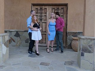 Surprising Lucy Foxx and Rachael Cavalli swop boyfriends for terrific have sexual intercourse
