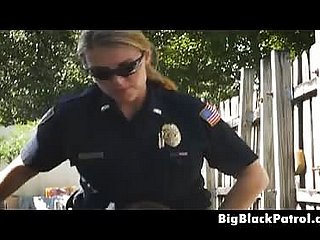 Boob Boobed Feminine Cops Interracial Facial Outdoors